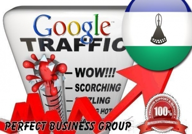 Organic traffic from Google.co.ls (Lesotho) with your Keyword