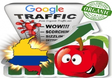 Colombian Search Traffic from Google.com.co with your Keywords