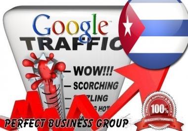Organic traffic from Google.com.cu (Cuba) with your Keyword