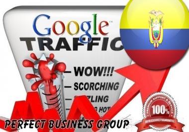 Organic traffic from Google.com.ec (Ecuador) with your Keyword