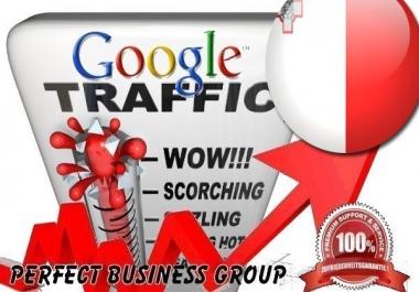 Organic traffic from Google.com.mt (Malta) with your Keyword