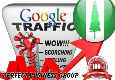 Organic traffic from Google.com.nf (Norfolk Island)