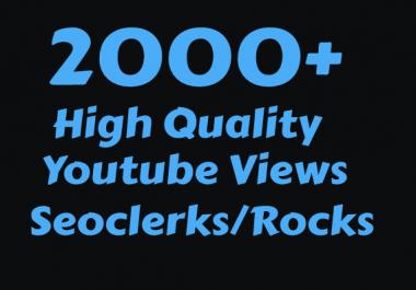 I will Add 2000+ High Quality Youtube vie ws