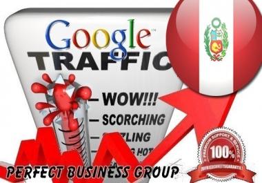 Organic traffic from Google.com.pe (Peru) with your Keyword