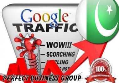 Organic traffic from Google.com.pk (Pakistan) with your Keyword