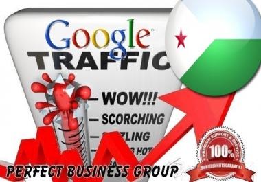 Organic traffic from Google.dj (Djibouti) with your Keyword