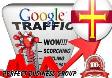 Organic traffic from Google.gg (Guernsey) with your Keyword