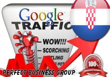 Organic traffic from Google.hr (Croatia) with your Keyword