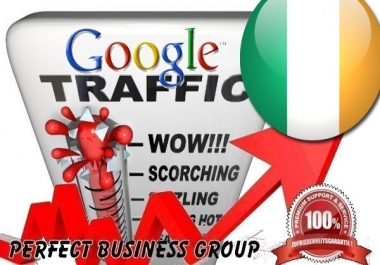 Organic traffic from Google.ie (Ireland) with your Keyword