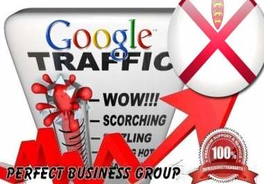 Organic traffic from Google.je (Jersey) with your Keyword