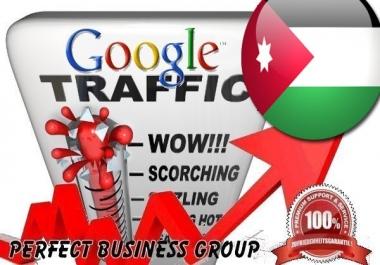 Organic traffic from Google.jo (Jordan) with your Keyword