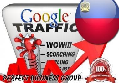 Organic traffic from Google.li (Liechtenstein) with your Keyword