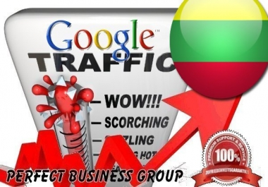 Organic traffic from Google.lt (Lithuania) with your Keyword