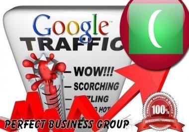 Organic traffic from Google.mv (Maldives) with your Keyword