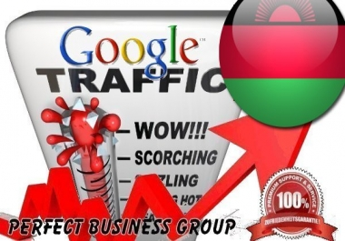 Organic traffic from Google.mw (Malawi) with your Keyword