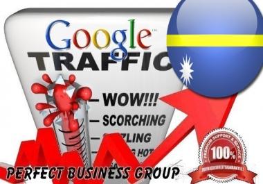 Organic traffic from Google.nr (Nauru) with your Keyword