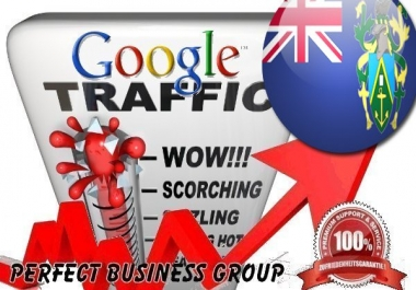 Organic traffic from Google.pn (Pitcairn Island) with your Keyword