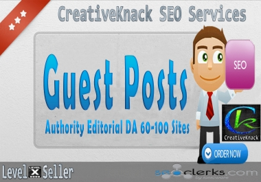 Write And Publish 5X Guest Posts On 5 Top Authority Editorial DA 60-100 Sites only