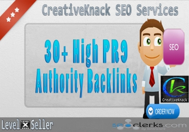 30+ PR9 High Authority Backlinks only