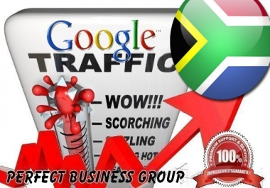 Organic traffic from Google.co.za (South Africa) with your Keyword