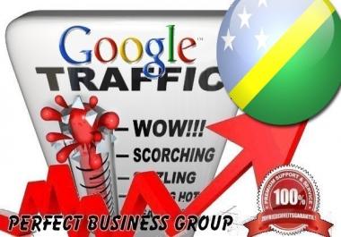 Organic traffic from Google.com.sb (Solomon Islands) with your Keyword