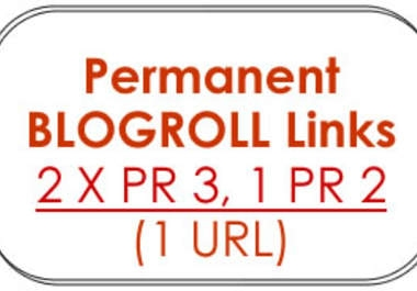 will give you 2 x PR3 + 2 x PR2 + 1 x PR1 Permanent *BLOGROLL* Links