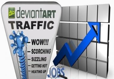 Social Traffic from DeviantART