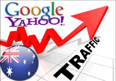 Organic traffic from Google.com.au + Yahoo!7 (Australia)
