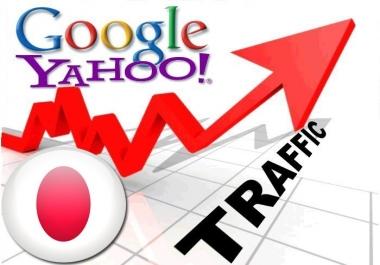 Organic traffic from Google.co.jp + Yahoo!検索