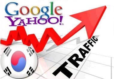 Organic traffic from Google.co.kr + Yahoo! Korea