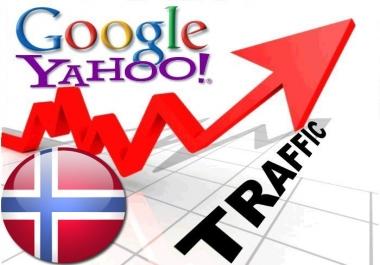 Organic traffic from Google.no + Yahoo! Norge