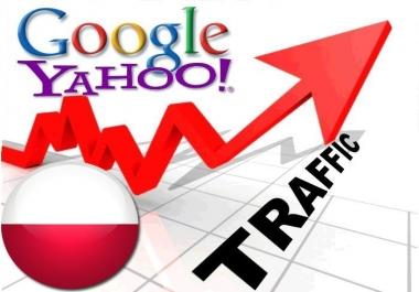 Organic traffic from Google.pl + Yahoo! Polska