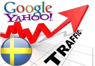 Organic traffic from Google.se + Yahoo! Sverige