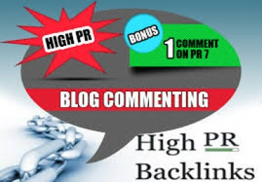 manually Create 40 Actual Page High PR Backlinks [ 3PR6 10PR5 15PR4 12PR3 ] DoFollow Blog Commenting high quality links and Ping for
