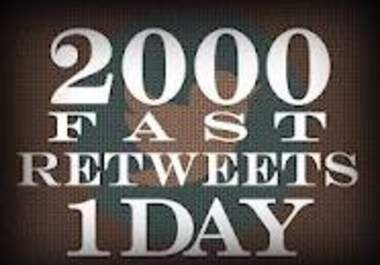 """will deliver 2000 RETWEETS + 2000 favorites and promote it to """"400,000"""" followers within 12 hours"""