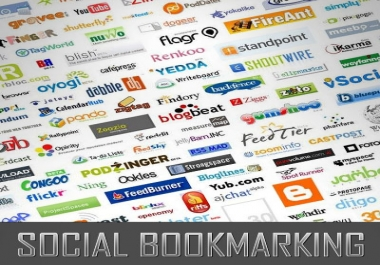 social BOOKMARK your link to 550 unique social bookmark sites complete with report on all social bookmark submissions