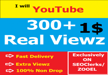 High retention 300+ Video Viewz Real people watch Fast Delivery