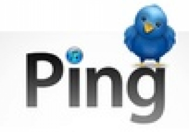 ping 20 websites or blogs to over 500 ping services with my powerful pinging software
