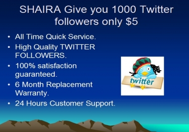 Provide  you 200+  Twi tter f0llowers in less then 24 hours
