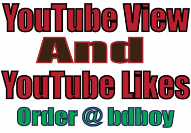 send 10,000 real youtube views + 50 Likes