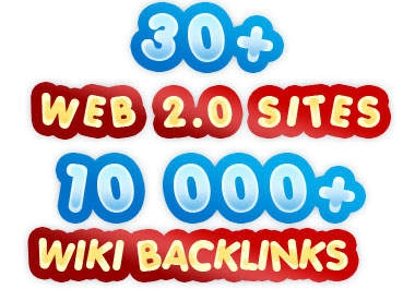 """build """"MULTI"""" tier link pyramid with over 30 web 2 properties and over """"10000"""" wiki backlinks"""