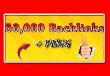 """ build 50,000 Blog Comment Backlinks And Ping All Links"""