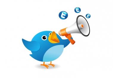 I will send 5 tweets/retweets to my +40.4k followers