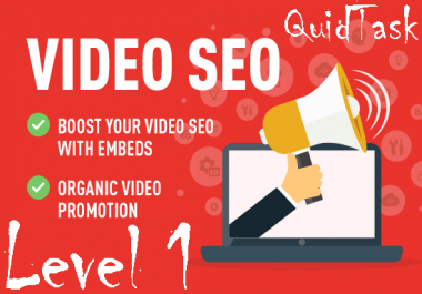 Video SEO - 1000 Views, 300 Embeds, 20 PR9 Social Signals