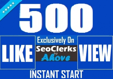 Get Instant 500 Likes In Photos Or 1000 Views In Videos For Social Media