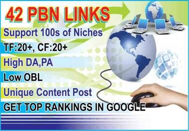 We will Create 42 permanent PBN Links