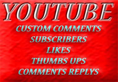 Give 20 Custom Comments in Youtube Video only