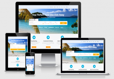 Established Profitable Responsive TRAVEL BOOKING Turnkey Website BUSINESS
