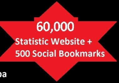 """blast your website to over *60000 Seo Backlinks to increase google ranking on Statistic and Whois + 500 Social Bookmarking"""