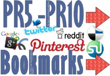 Generate 15 High PR Social Bookmarking